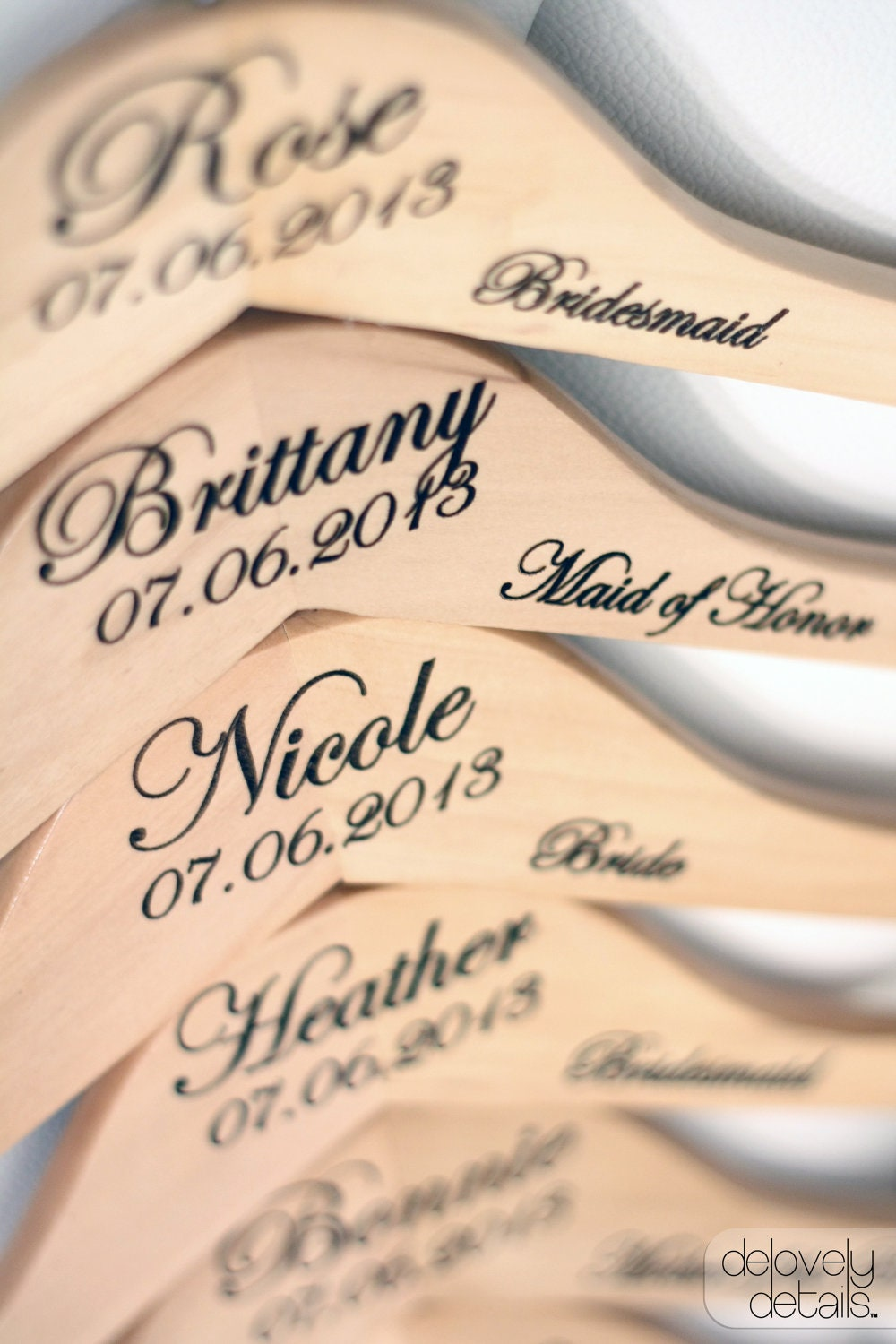 1 personalized wedding dress hanger with by delovelydetails for Wedding dress hangers personalized