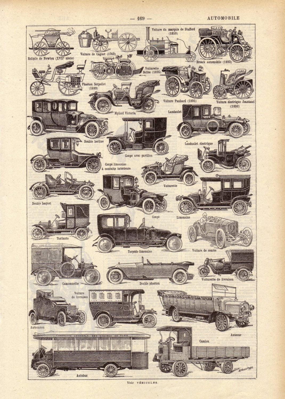 Урожай 1922 АВТОМОБИЛЬНЫЙ французский словарь Иллюстрация