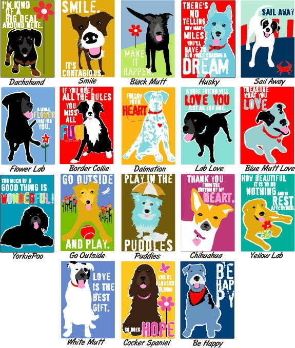 Colorful Dog Art Gift Magnet Your Choice 2 x 3 Heavy Duty Magnet - GoingPlaces2