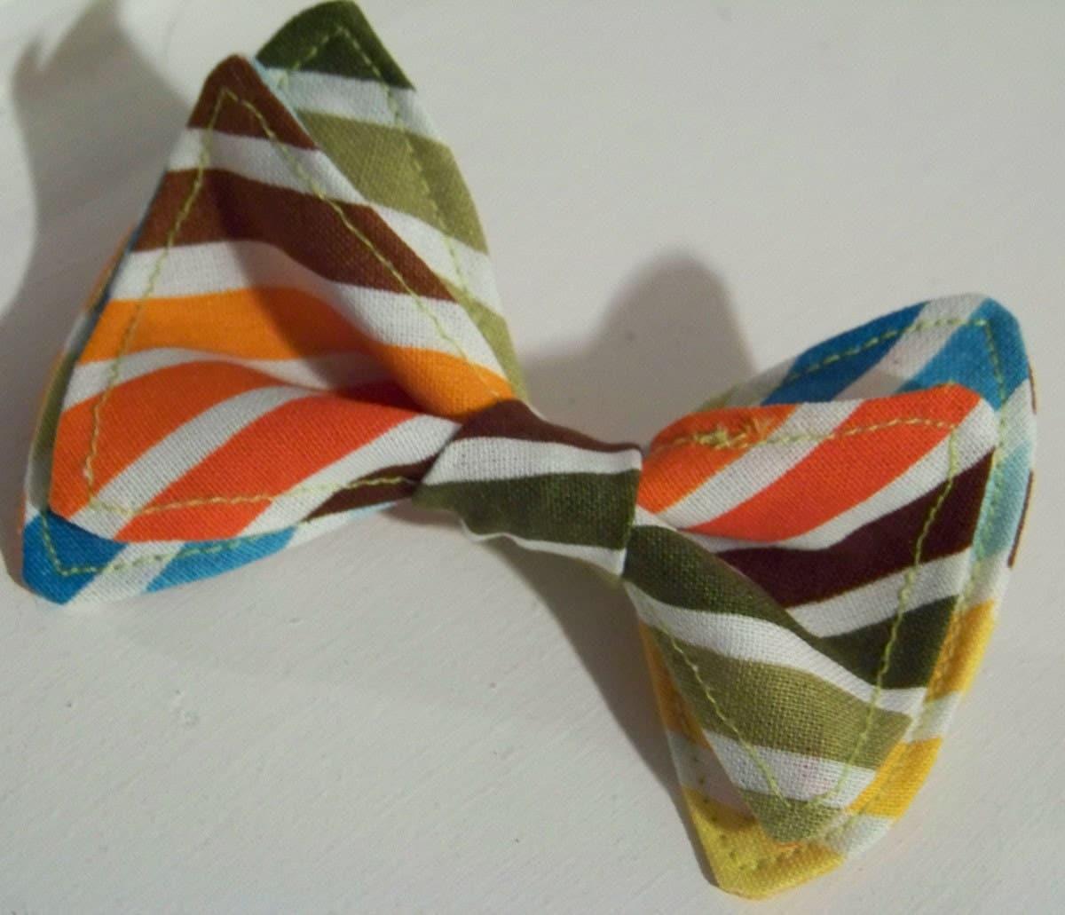 Bright Stripe Bowtie- Newborn  to 5T