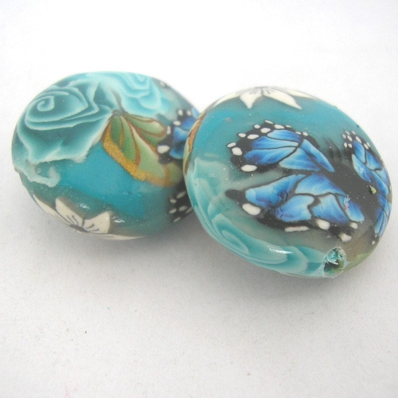 butterfly polymer clay beads