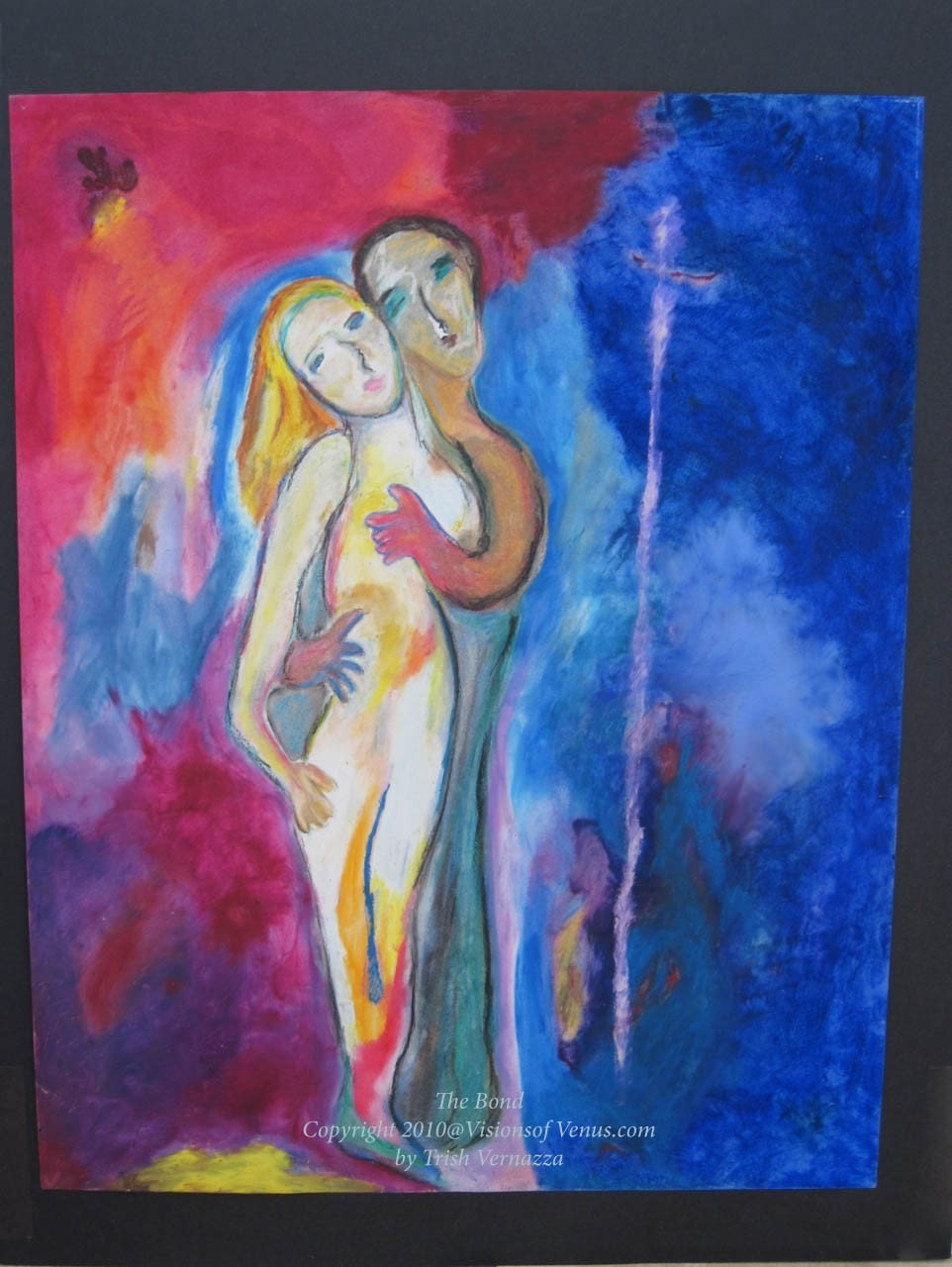 The Bond - original Art pastel painting by Trish Vernazza