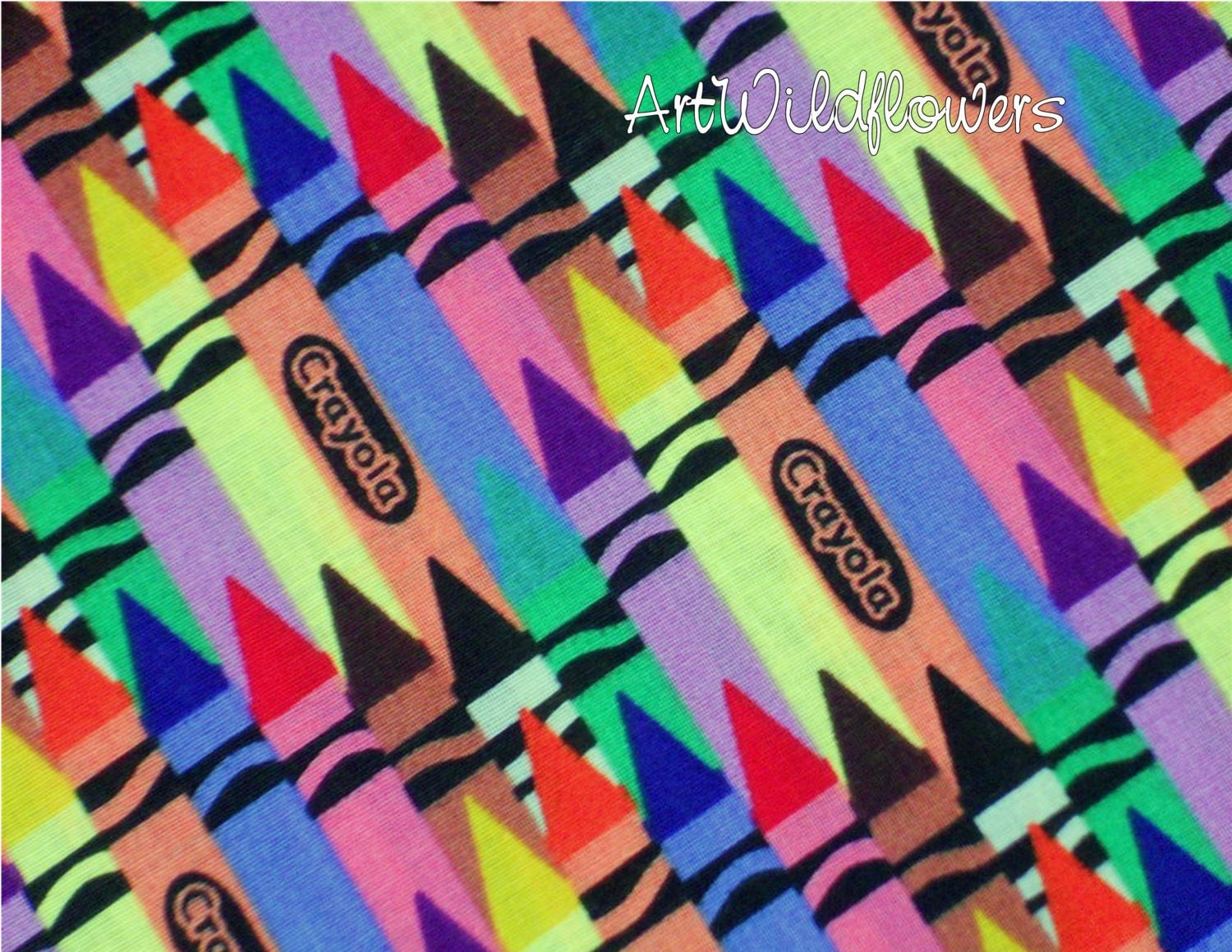 Fabric Crayola Crayon Quilting Fabric For Kids By