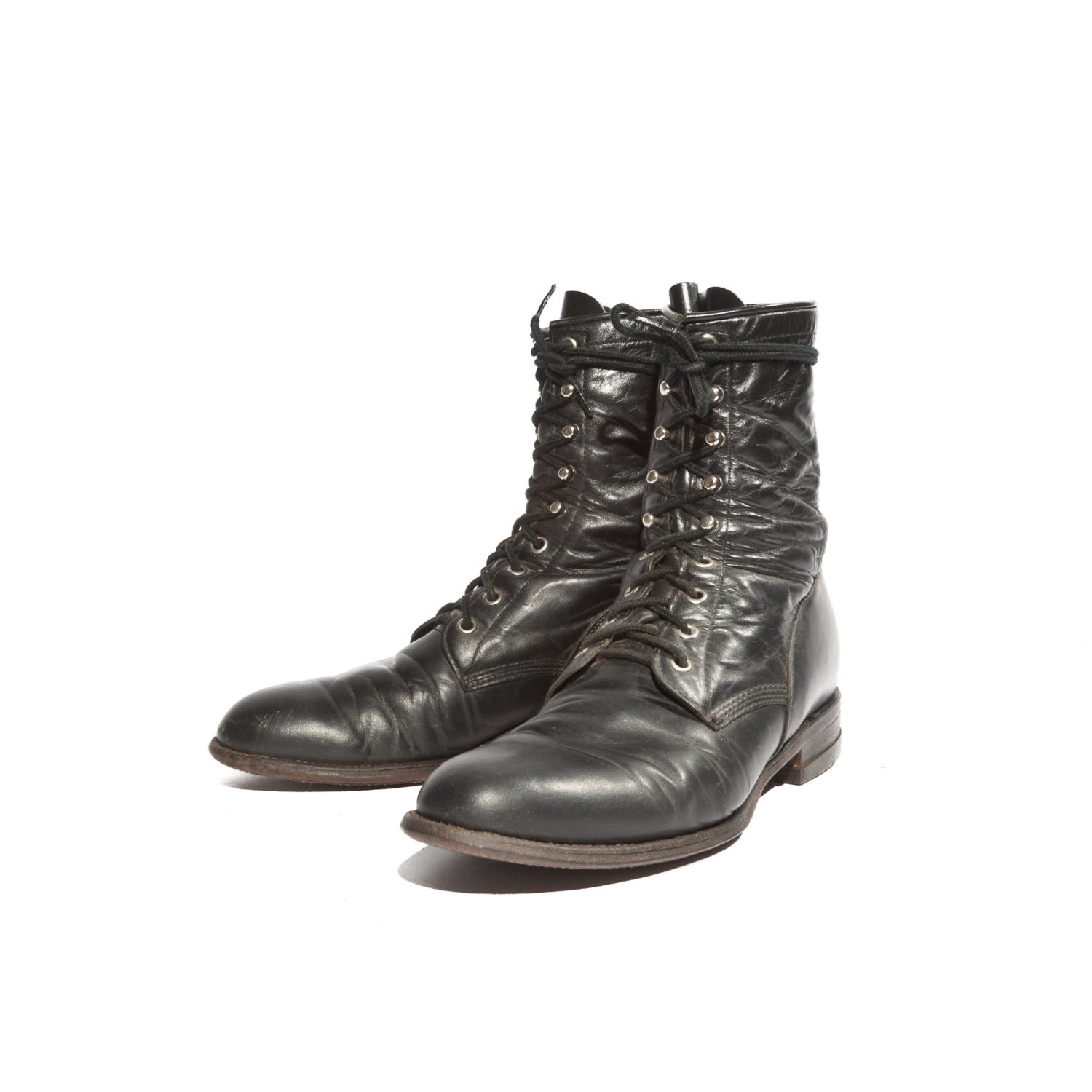 s vintage justin roper boot in a lace up by nashdrygoods