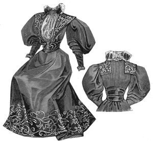 1880's Victorian Dress, made with Burda pattern 7880 – Sewing