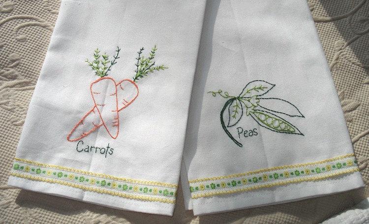 EMBROIDERY TEA TOWEL « EMBROIDERY & ORIGAMI