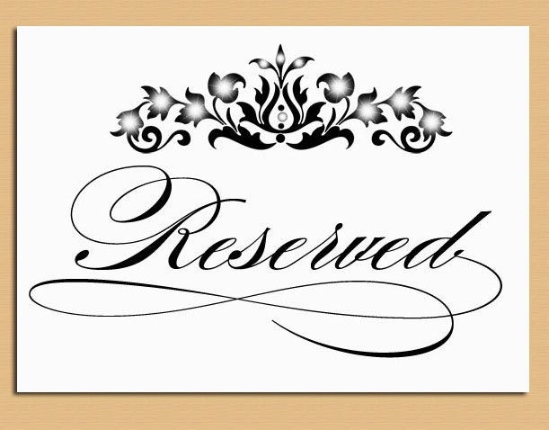 Dashing image with printable reserved signs