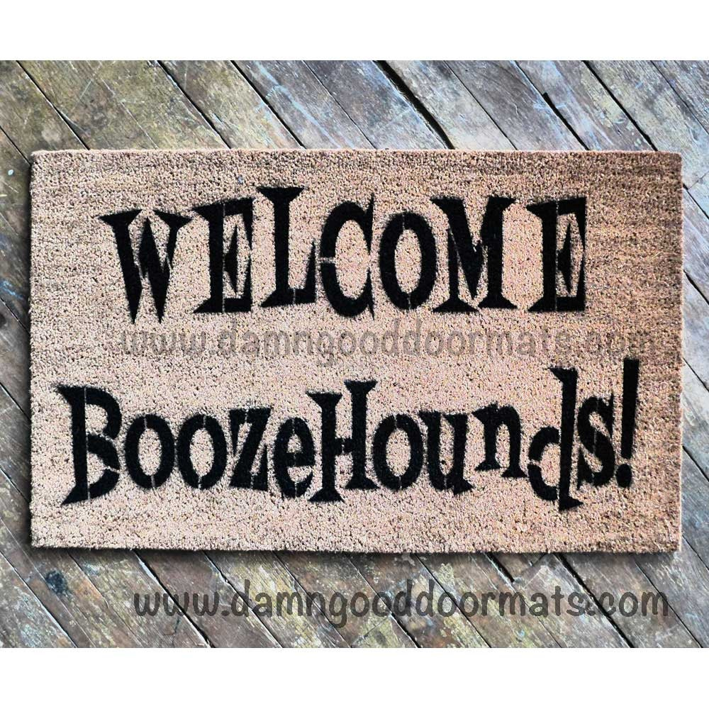 Items similar to welcome boozehounds doormat 50s funny rude mature novelty doormat on etsy - Offensive doormats ...
