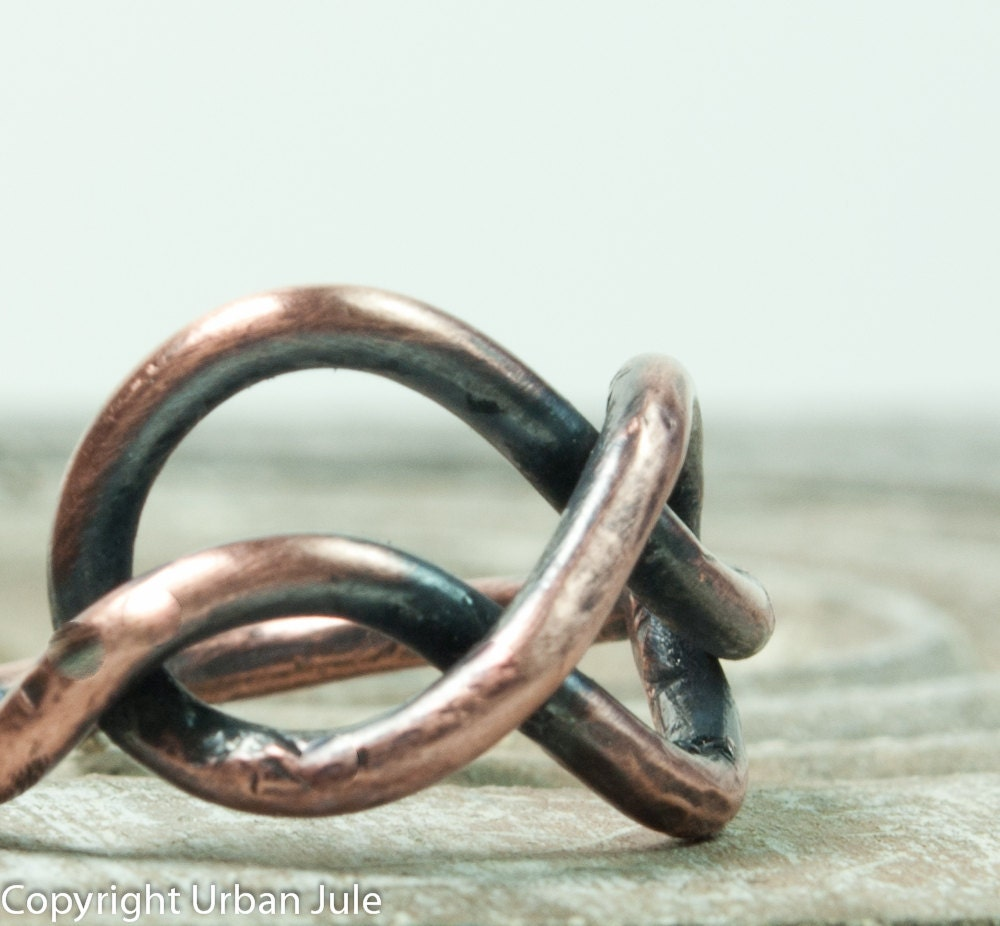 Infinity Ring Copper Infinity Knot Ring - UrbanJule