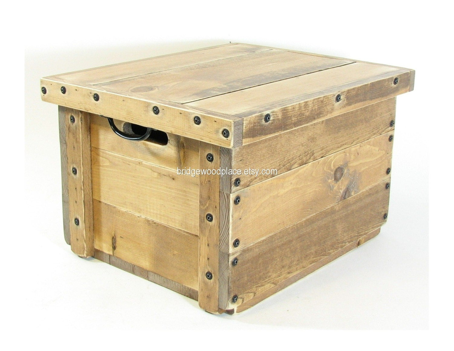 wood table crate rustic wooden box reversible by