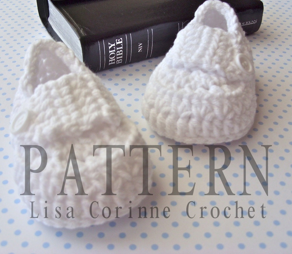 Easy Crochet Baby Boy Clothes Patterns : Christening Shoes PATTERN Baby Boy Baptism by ...