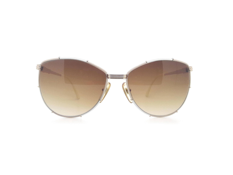 Genuine 1980s Christian Dior 2472 41Vintage White Aviator Sunglasses  Made in Austria  New Old Stock