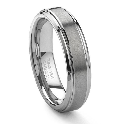 Tungsten Carbide Satin Mens Or Womens Wedding Band By Usajewelry