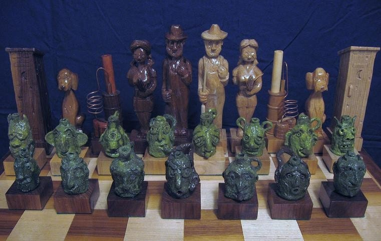 The Face Jug Chess Set (Moonshiner's Chess) by Jim Arnold and Joey Arrowood