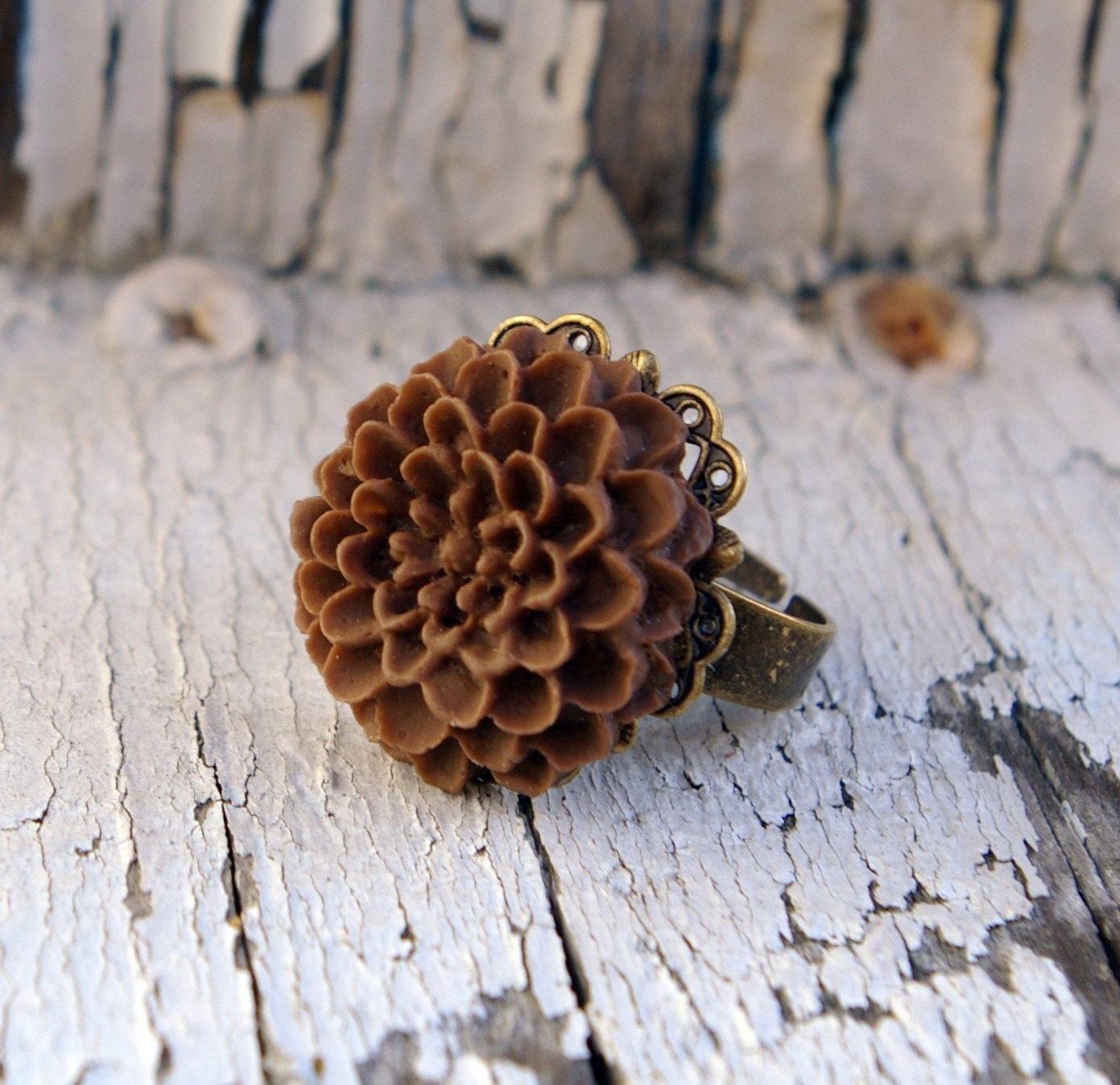 Chocolaty Delicious Blooming Mum Ring