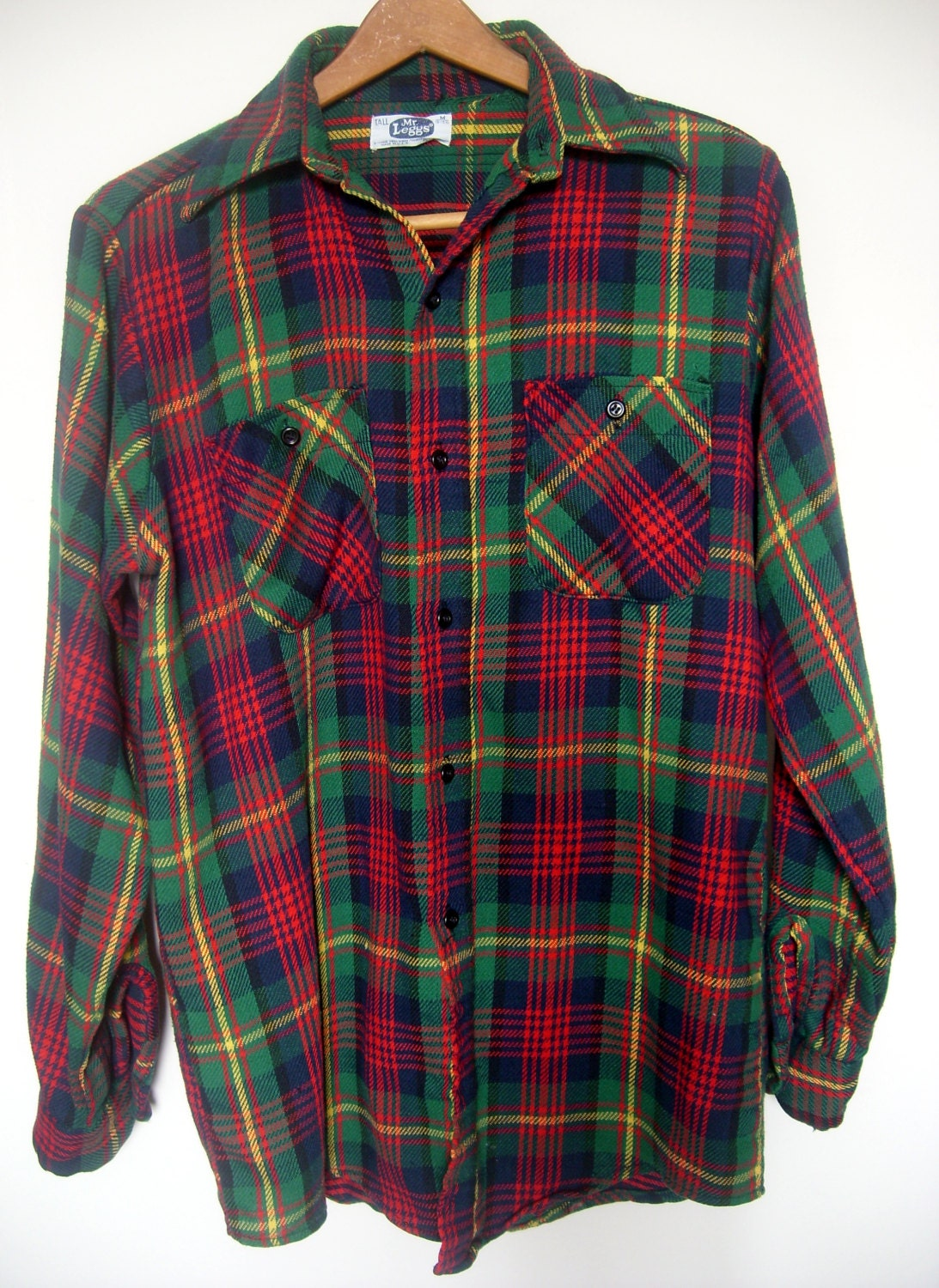 vintage men 39 s flannel lumberjack shirt red size by happy2find