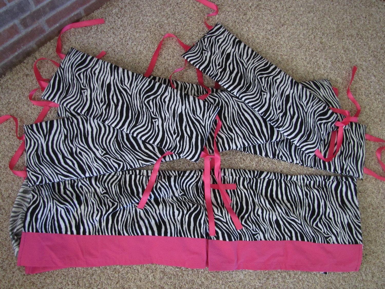 pink animal print bedding. Zebra and Hot pink baby crib