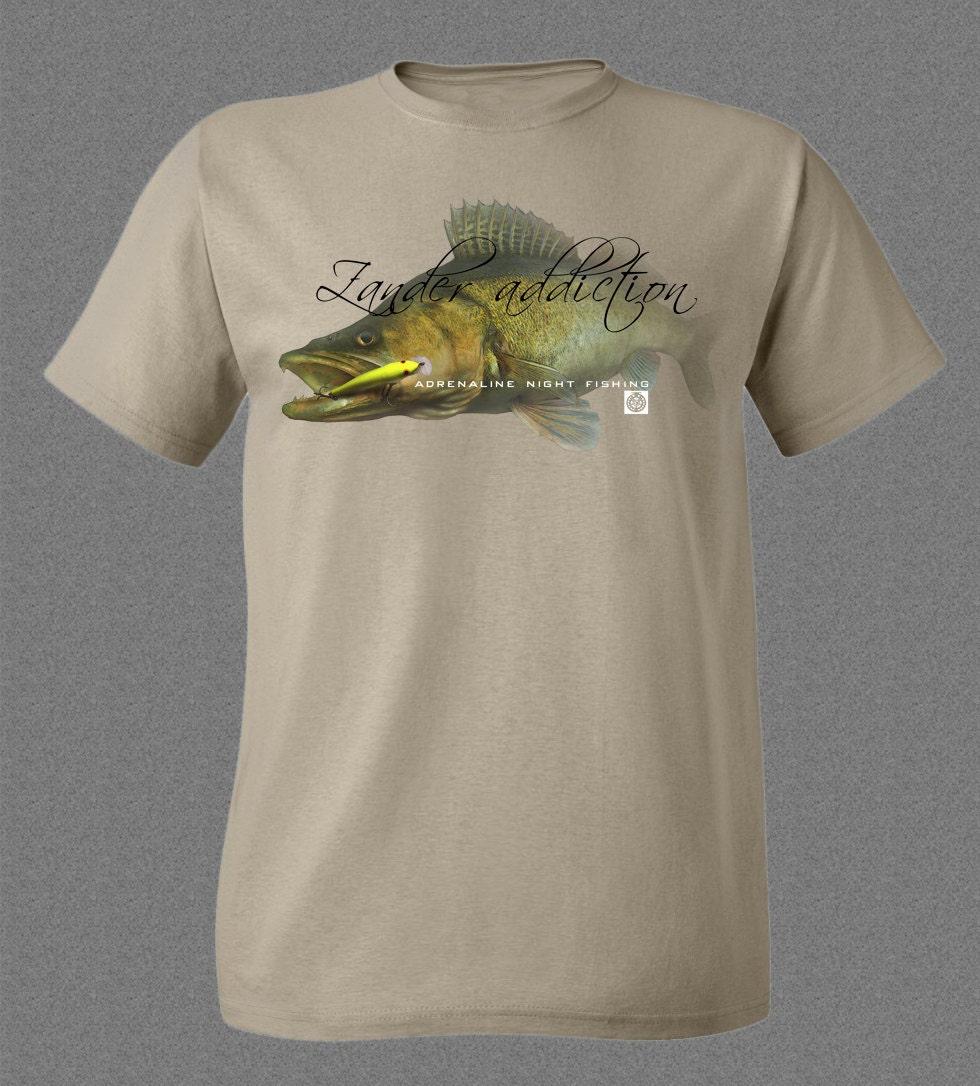 Zander Lure Fishing Flotsam Original khaki Tshirt