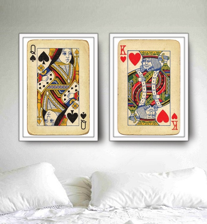 Royal Wedding: 2 BIG posters, King and Queen Playing Cards 20x30inch (50x70 cm). Fit into IKEA frames