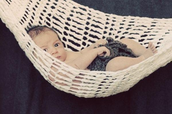 CROCHET PATTERN Newborn Baby Hammock by speckledfrogcrochet