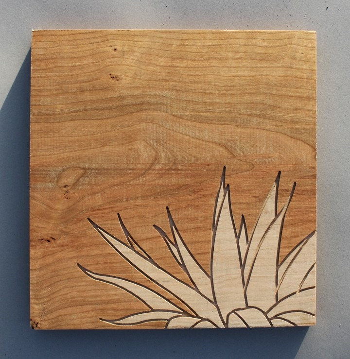 Wood Routing (Succulent 2) - Brazilian Cherry