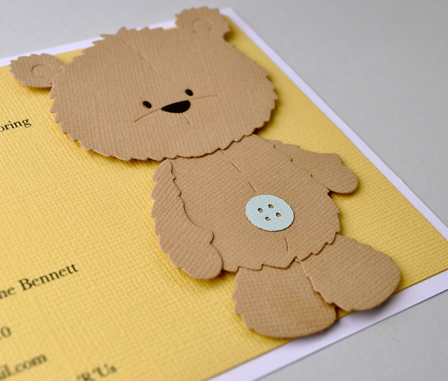 bear invite bear baby showers baby shower invitations baby shower