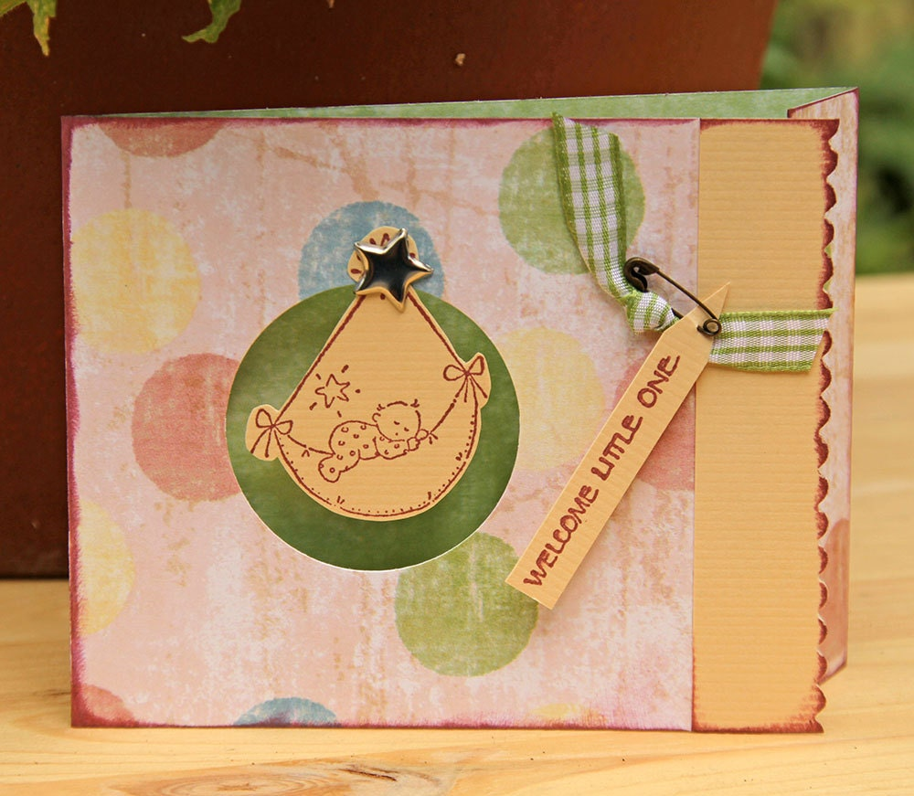 Welcome Little One Greeting Card to Birth of New Baby Girl - CarolaBartz