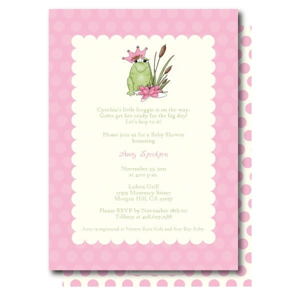 princess and the frog baby shower invitation by thencomespaper