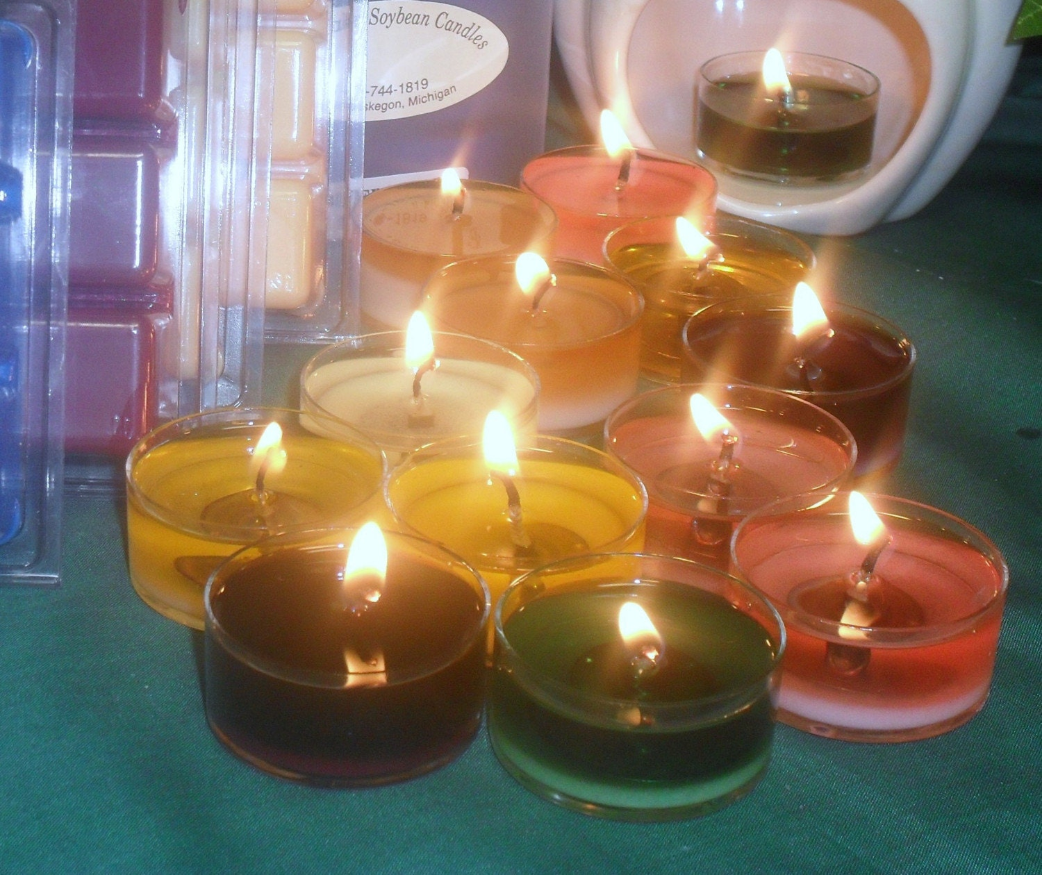 GREAT LAKES SOYBEAN CANDLES 12 T-LITES 6-99 ALL SOY ANY SCENT  BURNTIME 6-8 HOURS EACH