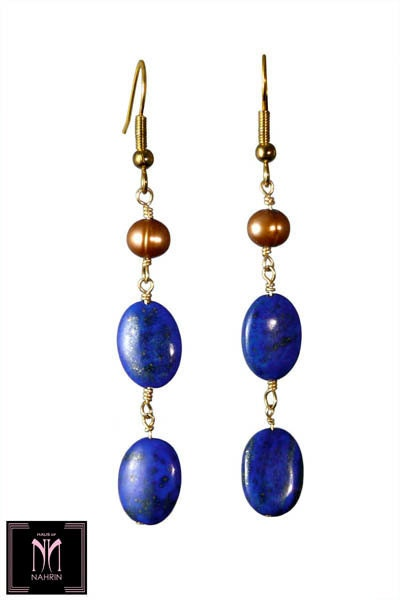 LAPIS FLAPPER Earrings