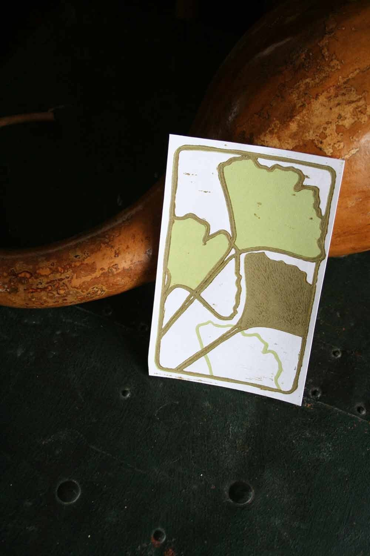 Ginkgo Postcard