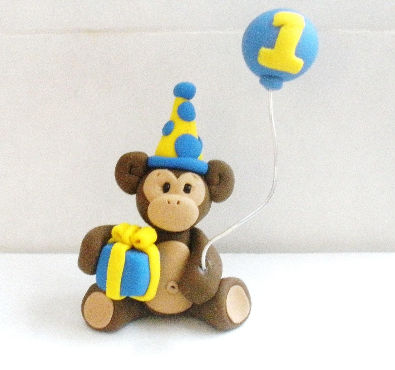 Monkey Cake Topper. RedC Creative Little Monkey Cartoon ...