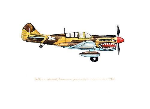 Curtiss P 36 Hawk flight The