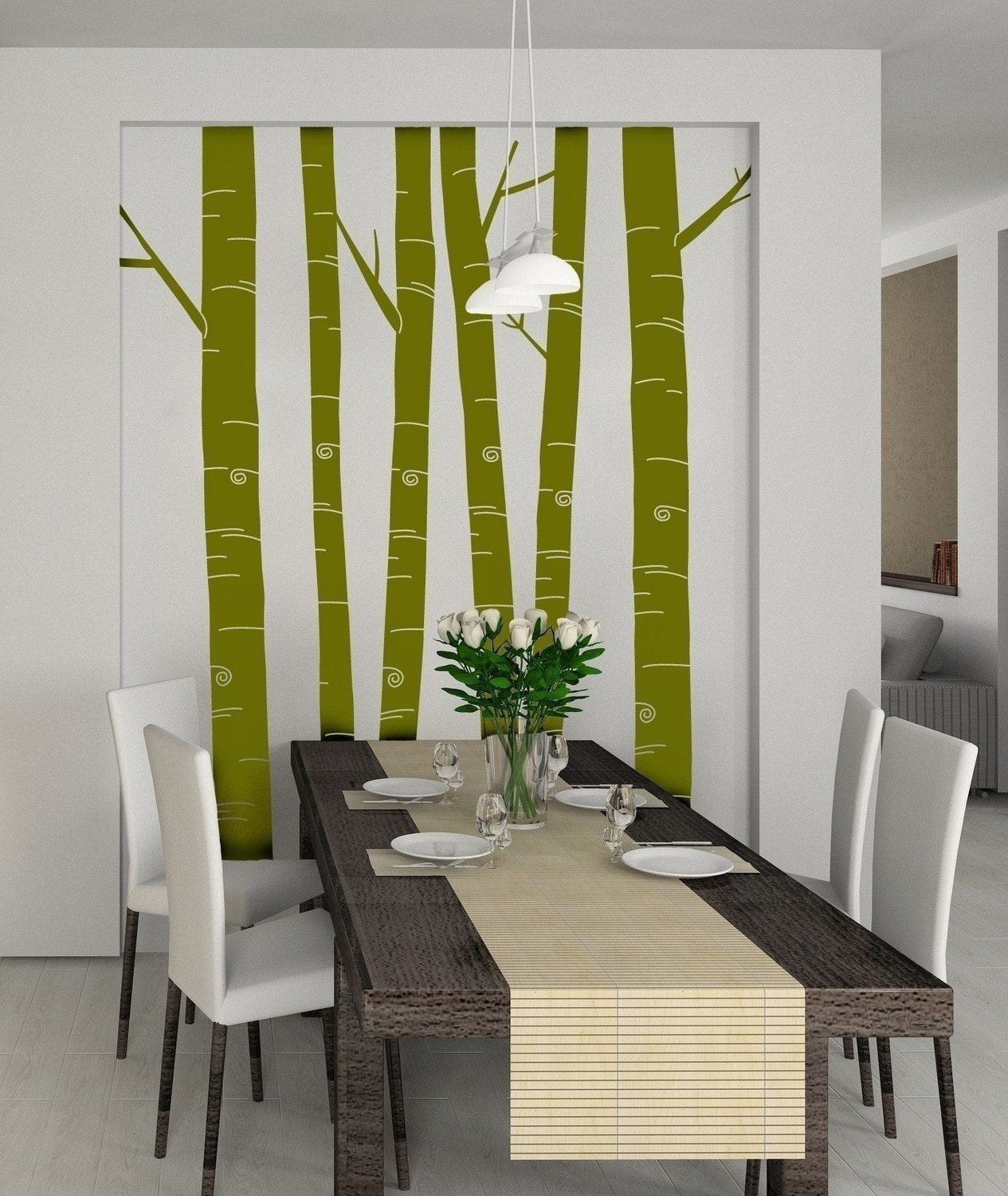 Tall Aspen Trees - Set of 6 - item 30030