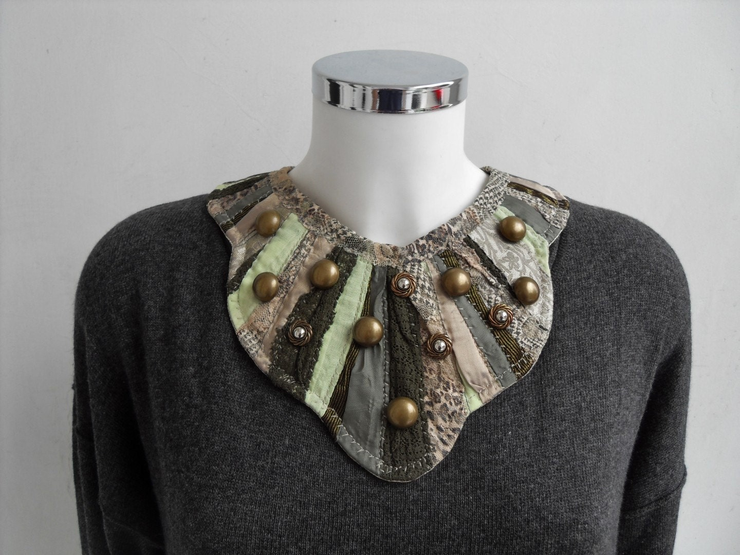ARMY GAMES AND CAMOUFLAGE COLLAR NECKLACE by UnderReconstruction