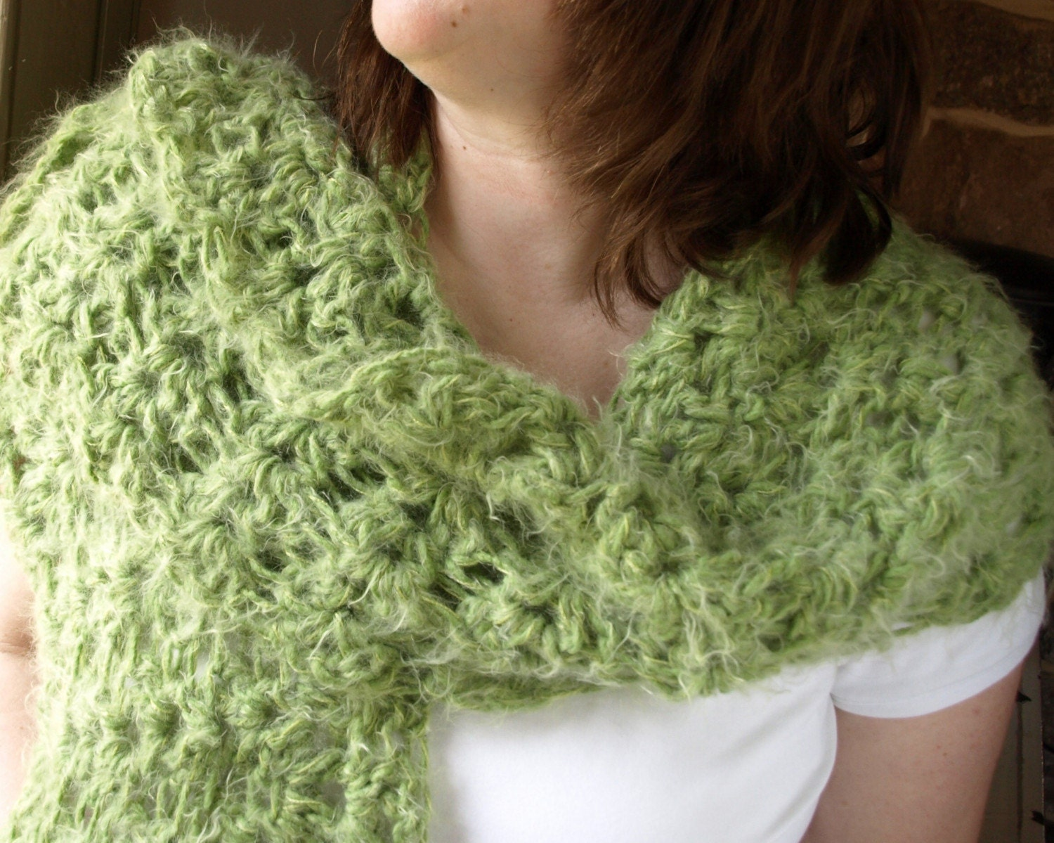 Lime Marguerita Shawl