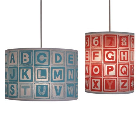No. 8 ABC Lampshade, choice of 9 colourways