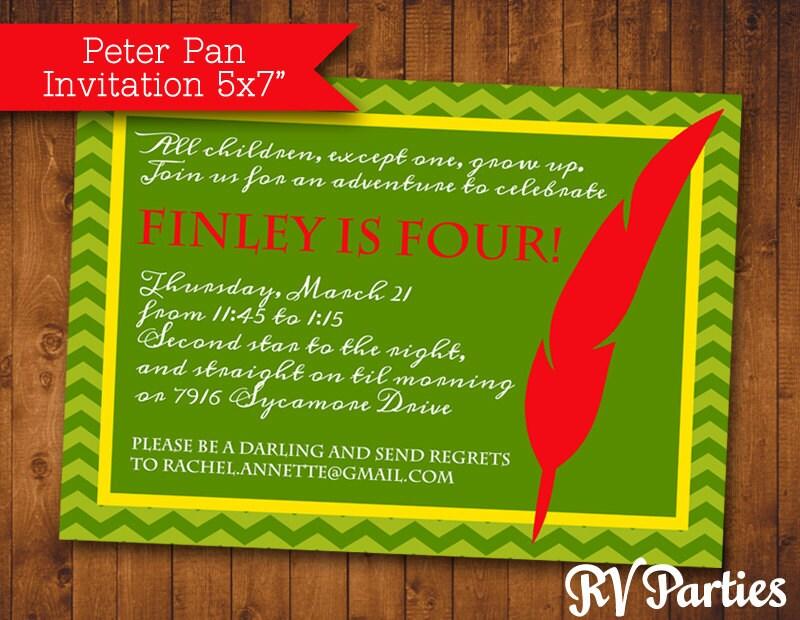 Peter Pan Birthday Invitations with nice invitations design