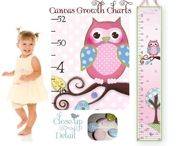 Brooke Owl Canvas GROWTH CHART