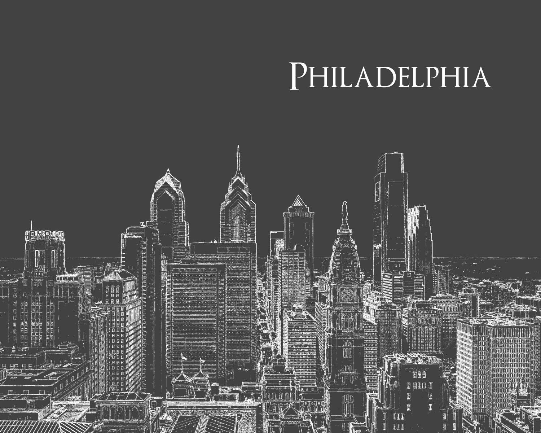 Philadelphia Skyline Print - caraleighthreads