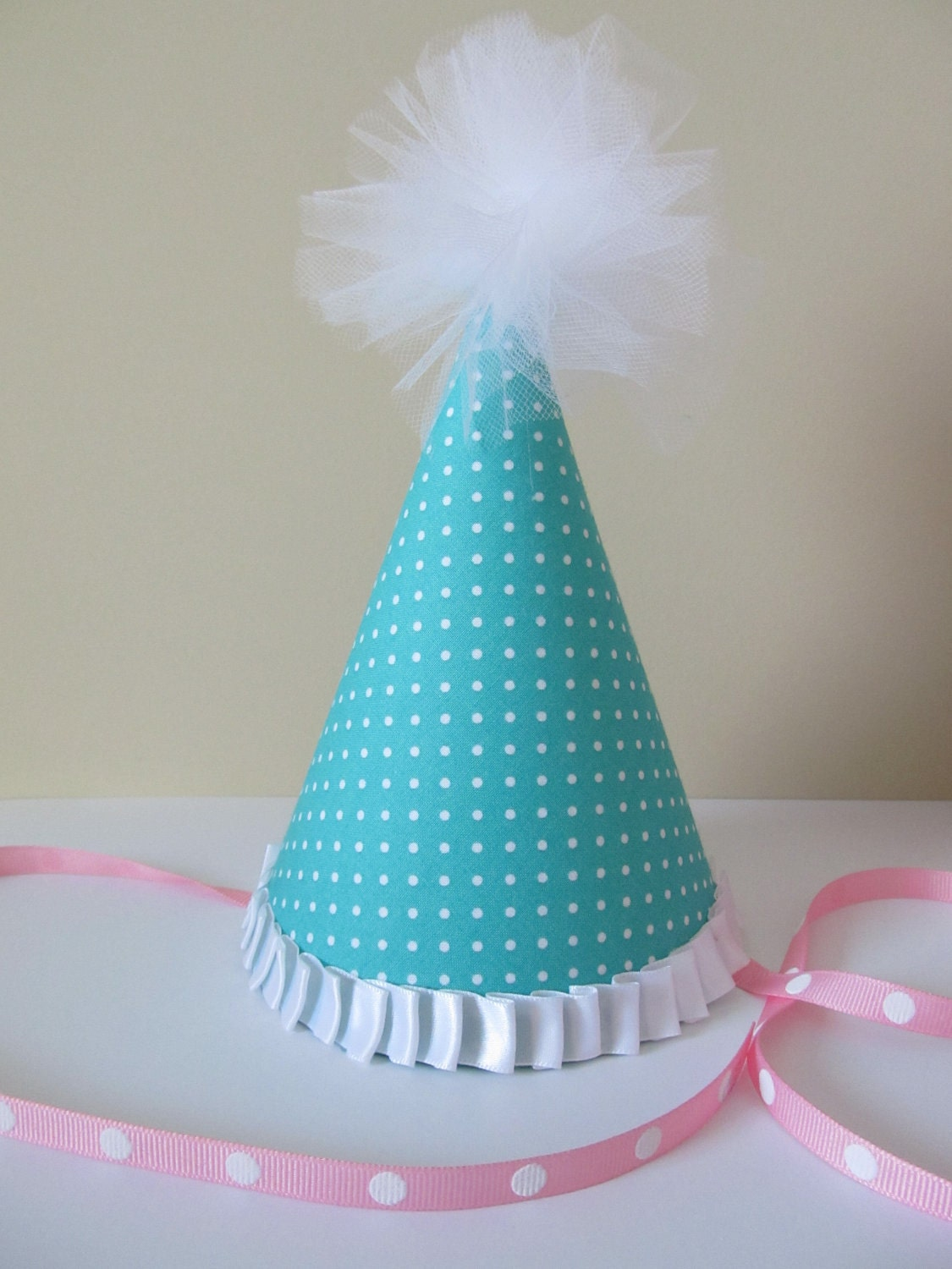 Boutique Fabric Party Hats- Perfect as a First Birthday Party Hat or Fun Party Favors