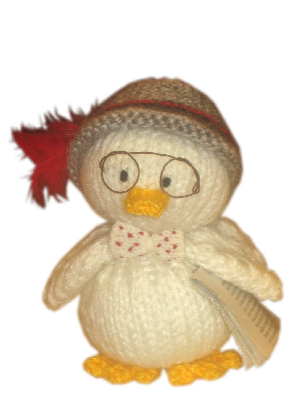 INDIANA JONES DUCK AND HIS HAPPY FAMILY KNIT  PDF EMAIL PATTERN