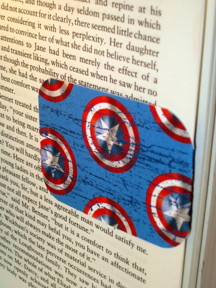 "Magnetic Bookmark ""Captain America"""