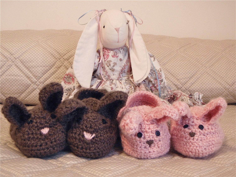 Crochet Bunny Slippers