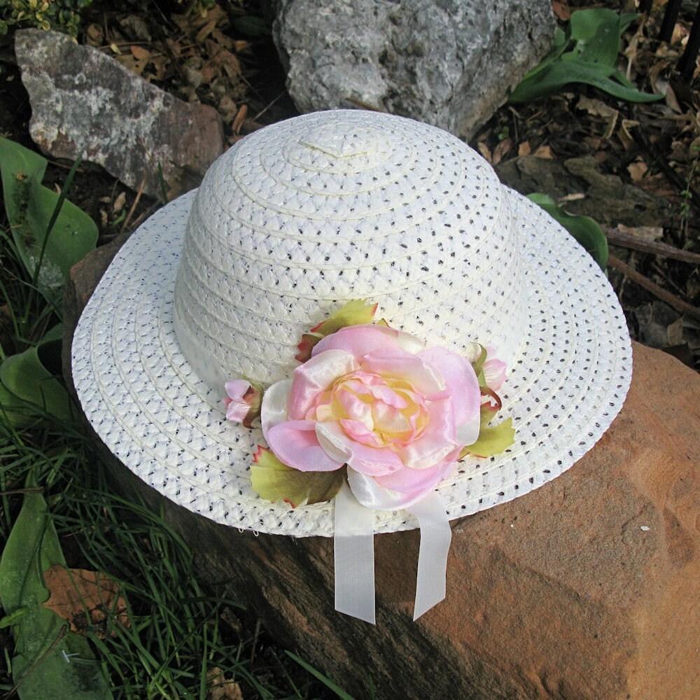 Spring Flower Easter Bonnet Girls Tea Party By Fairytalegarden