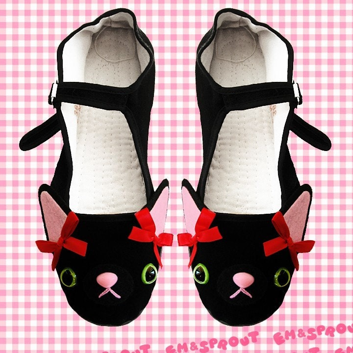 Kitty Cat Mary Jane Shoes - Size 9