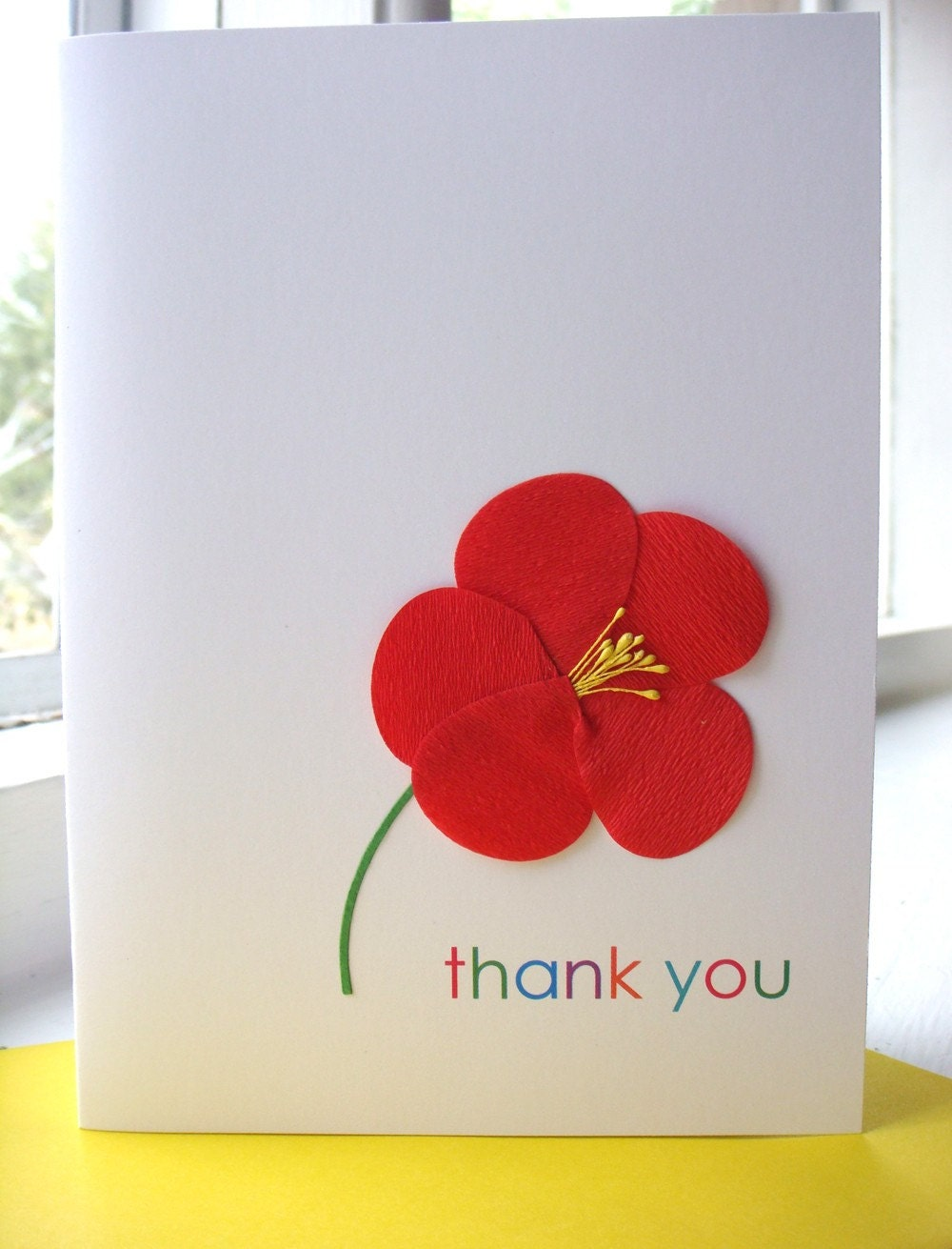 sharing Cheerful Thank You Cards