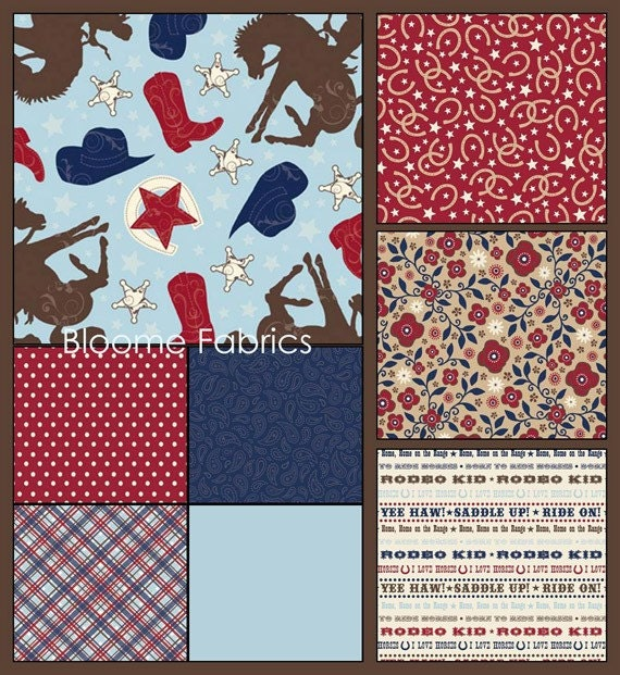 Wanna Be A Cowboy 2 by Samantha Walker for Riley Blake Fat Quater Bundle - 24 Quarters