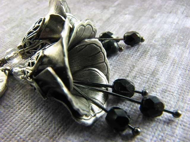 BOGO FOR HALF SALE - Black Dahlia - Earrings