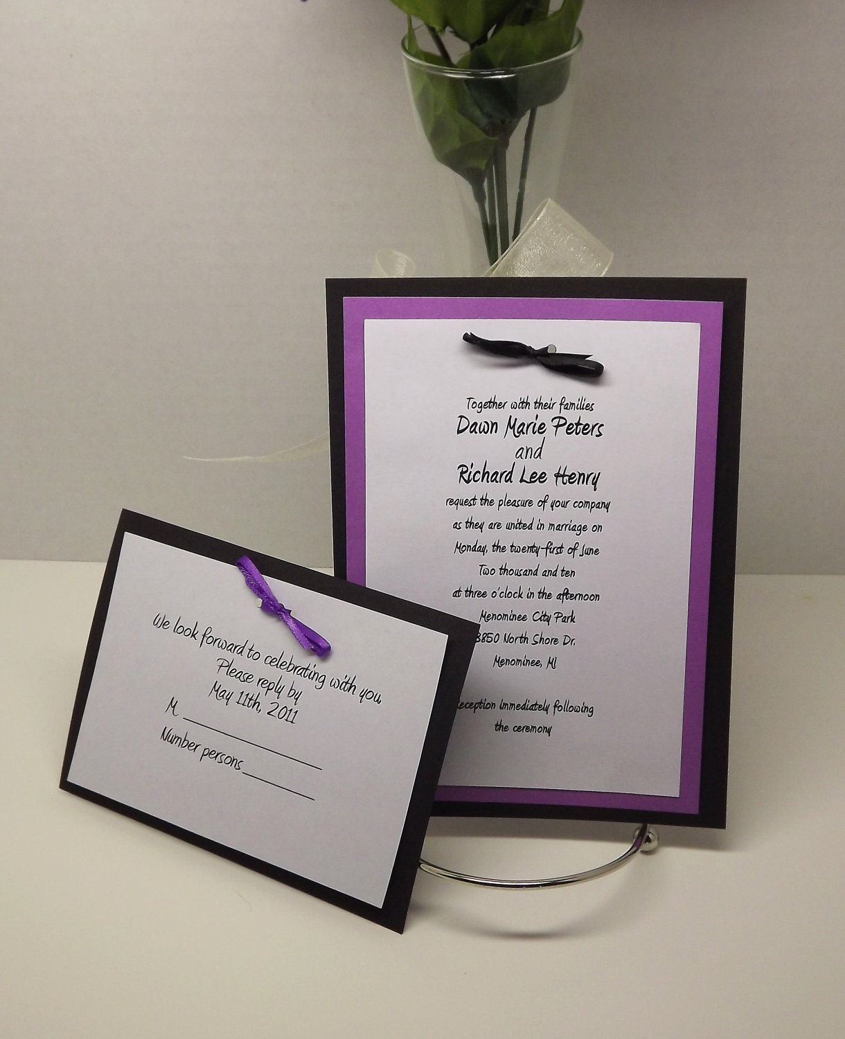 Items similar to diy wedding invitation kits with invitations rsvp
